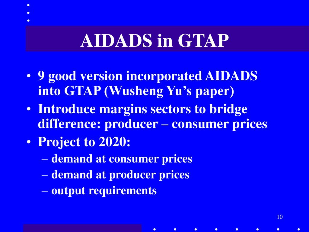 AIDADS in GTAP