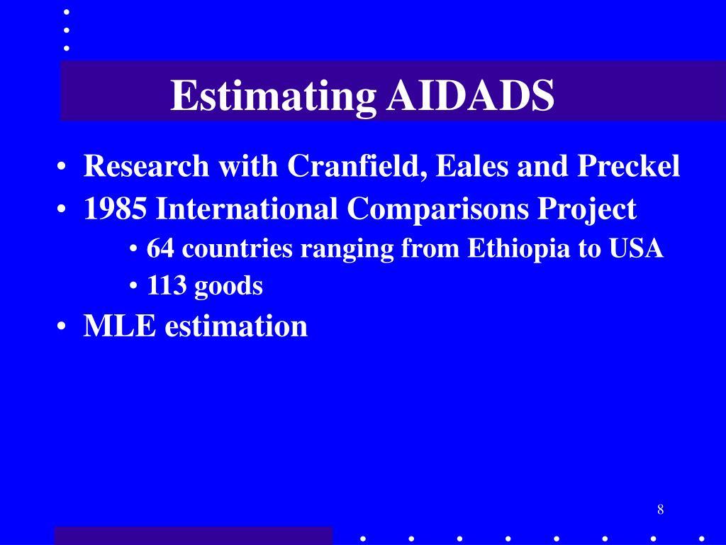 Estimating AIDADS