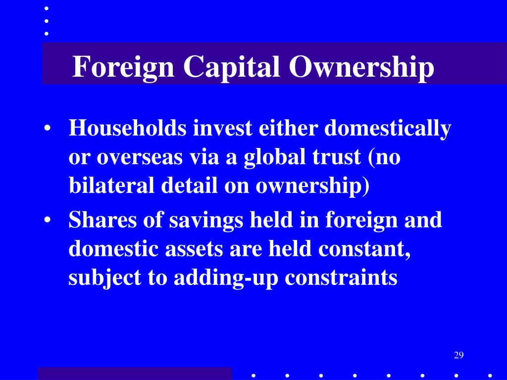Foreign Capital Ownership