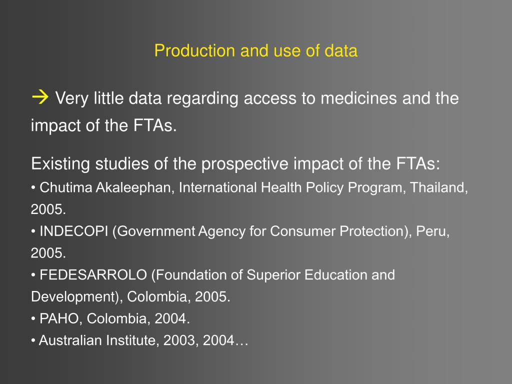 Production and use of data