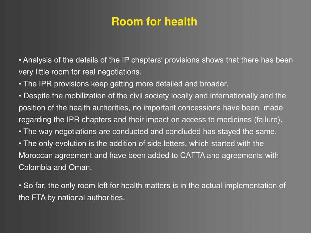 Room for health