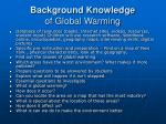 background knowledge of global warming