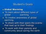 student s goals