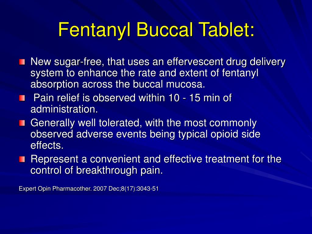 Fentanyl Buccal Tablet: