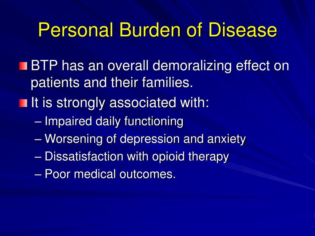 Personal Burden of Disease