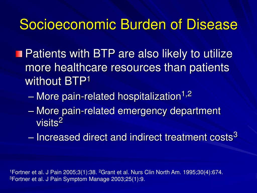 Socioeconomic Burden of Disease