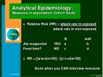 analytical epidemiology measures of association cohort study