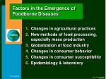 factors in the emergence of foodborne diseases