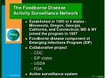the foodborne disease activity surveillance network