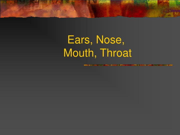 ears nose mouth throat n.