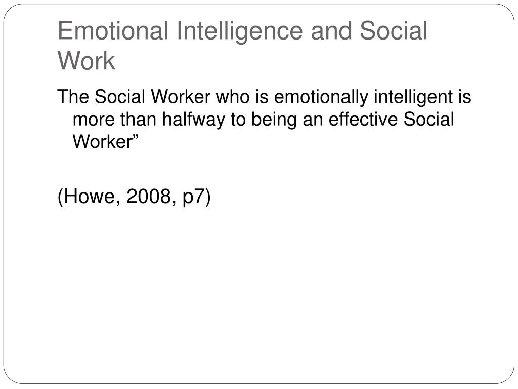 Emotional Intelligence and Social Work