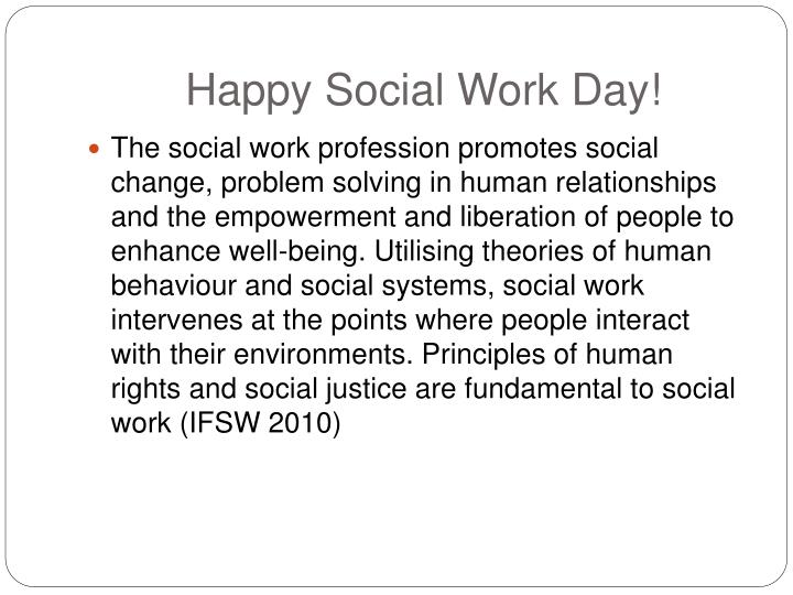 Happy social work day