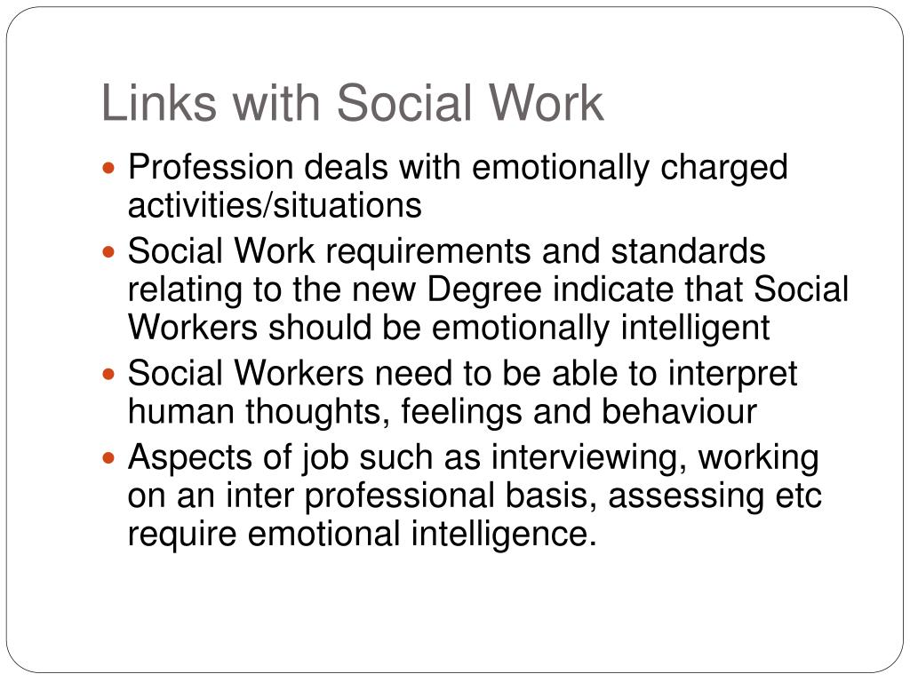 Links with Social Work