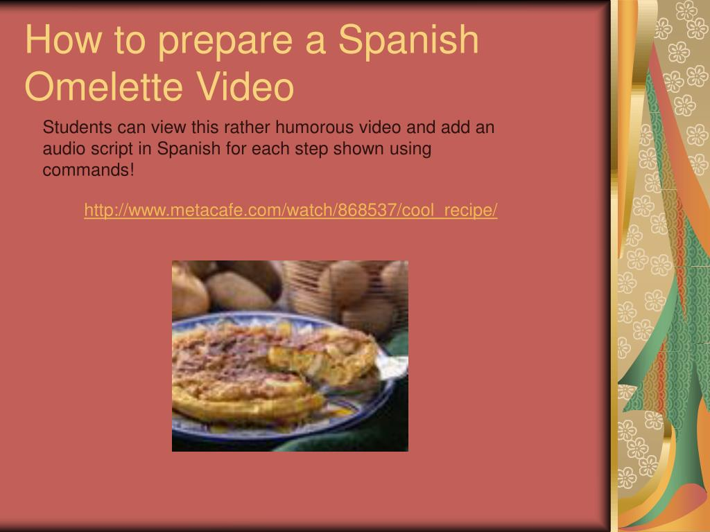 How to prepare a Spanish Omelette Video