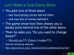 let s make a deal game show