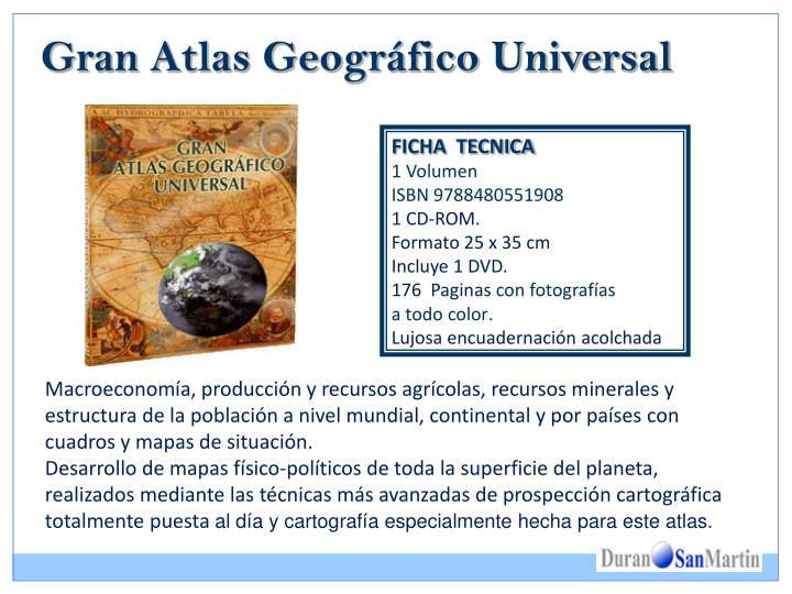 Gran atlas geogr fico universal