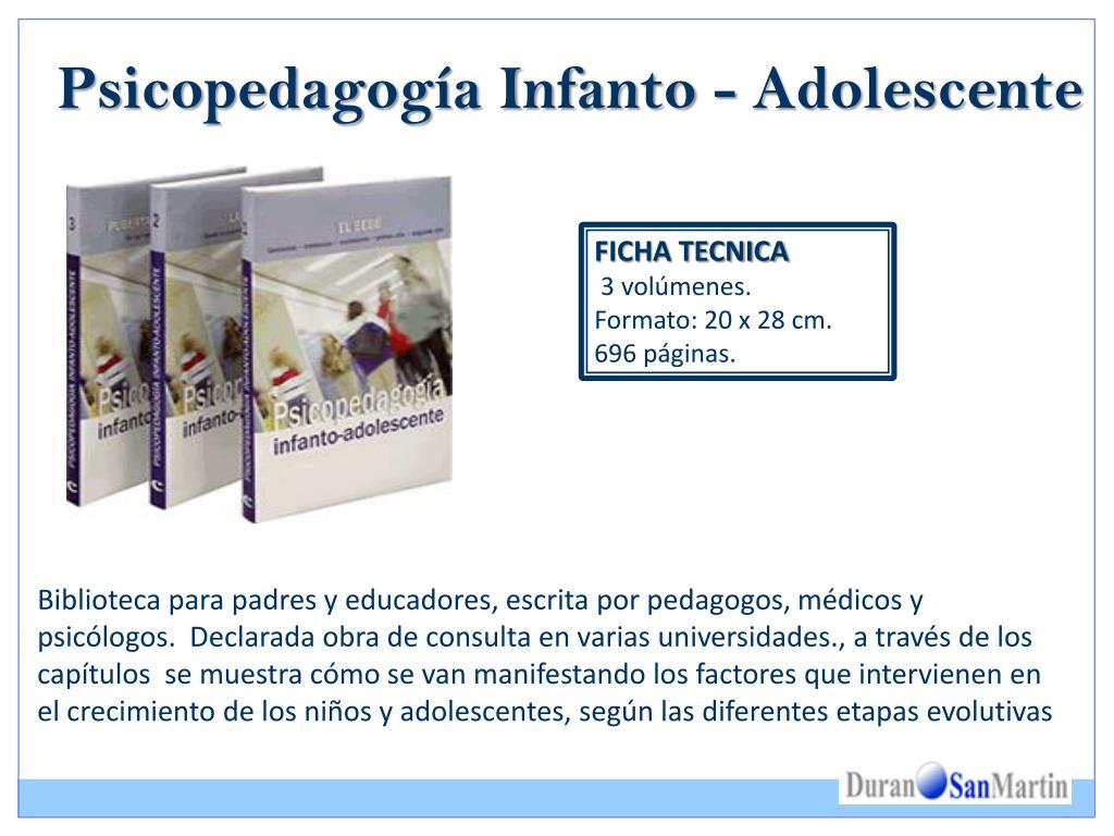 Psicopedagogía Infanto - Adolescente