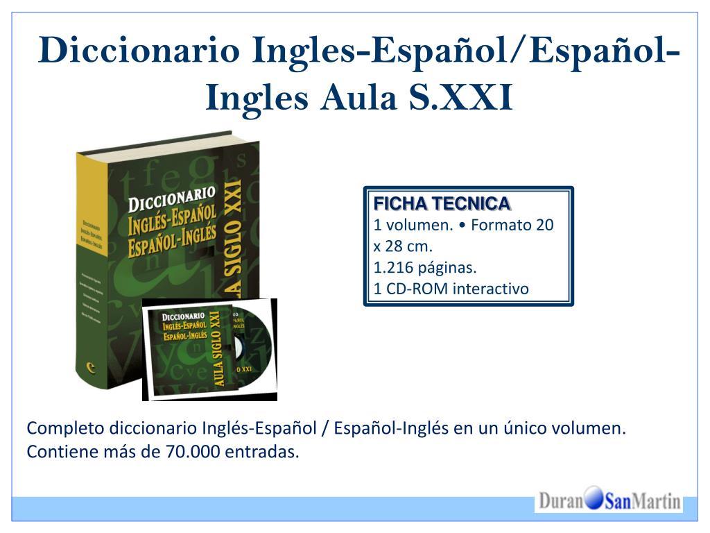 Diccionario Ingles-Español/Español-Ingles Aula S.XXI