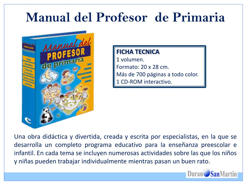 Manual del Profesor  de Primaria