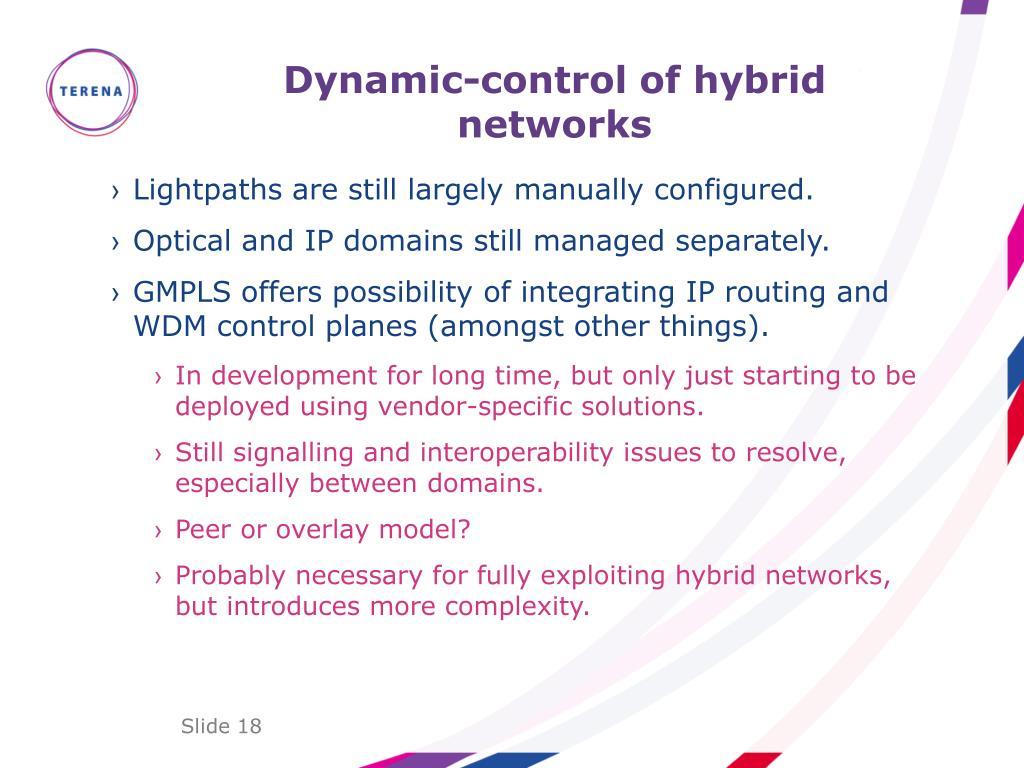 Dynamic-control of hybrid networks