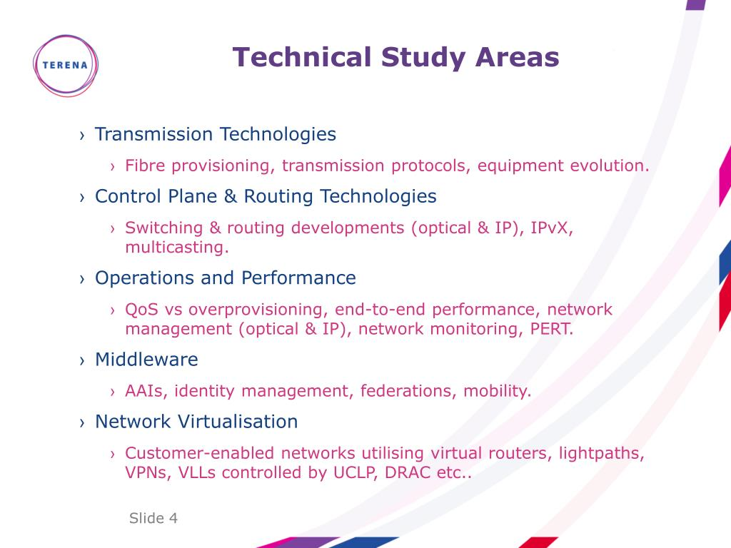 Technical Study Areas
