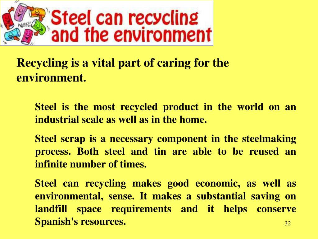 Recycling is a vital part of caring for the environment