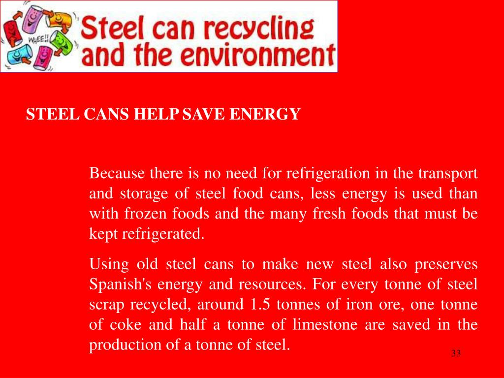 STEEL CANS HELP SAVE ENERGY