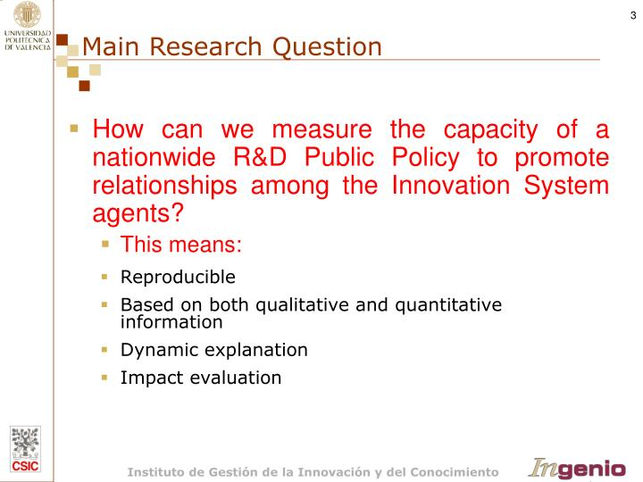 Main research question