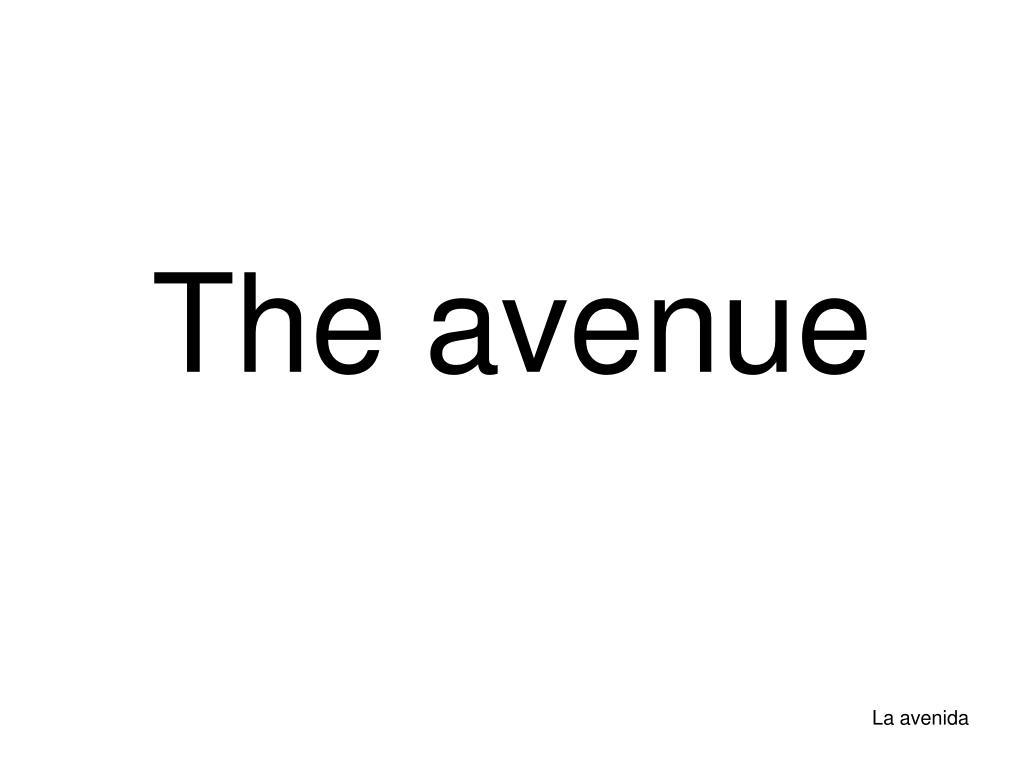 the avenue l.