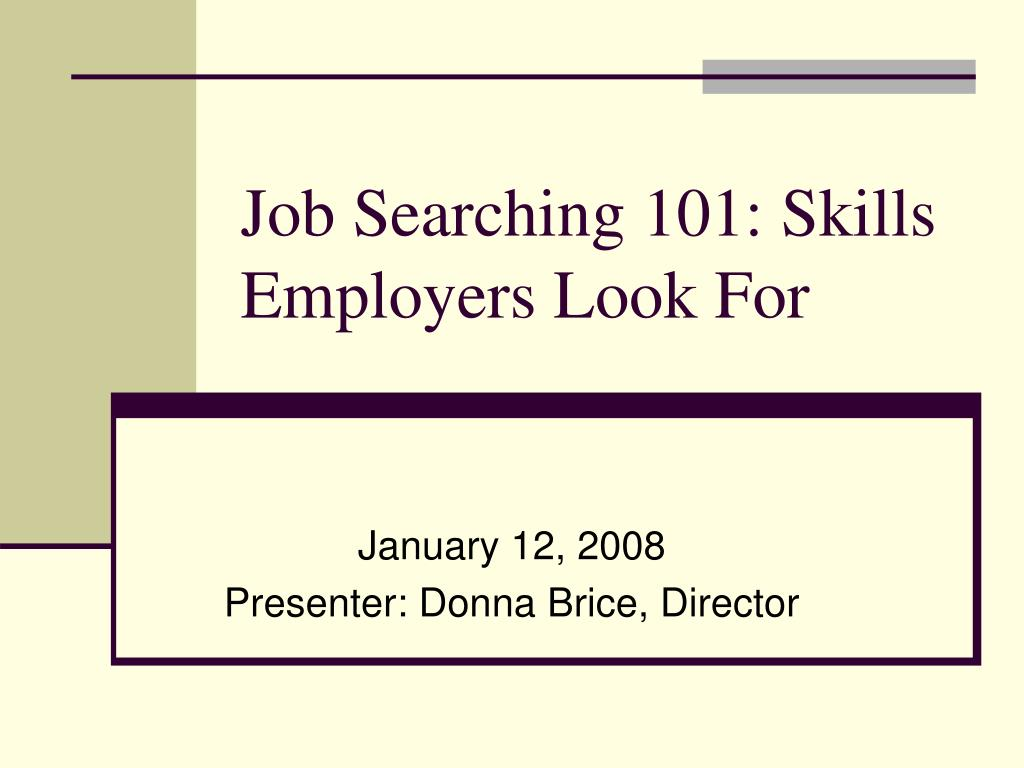 skills employers look for