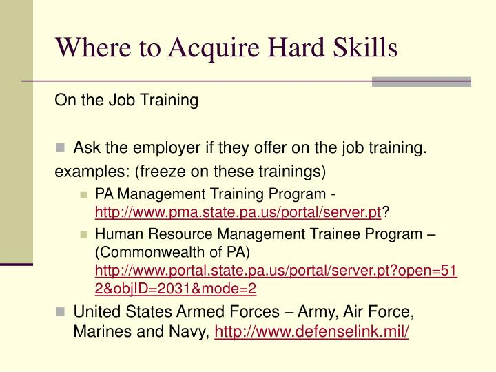 ppt job searching 101 skills employers look for powerpoint