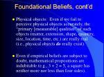 foundational beliefs cont d
