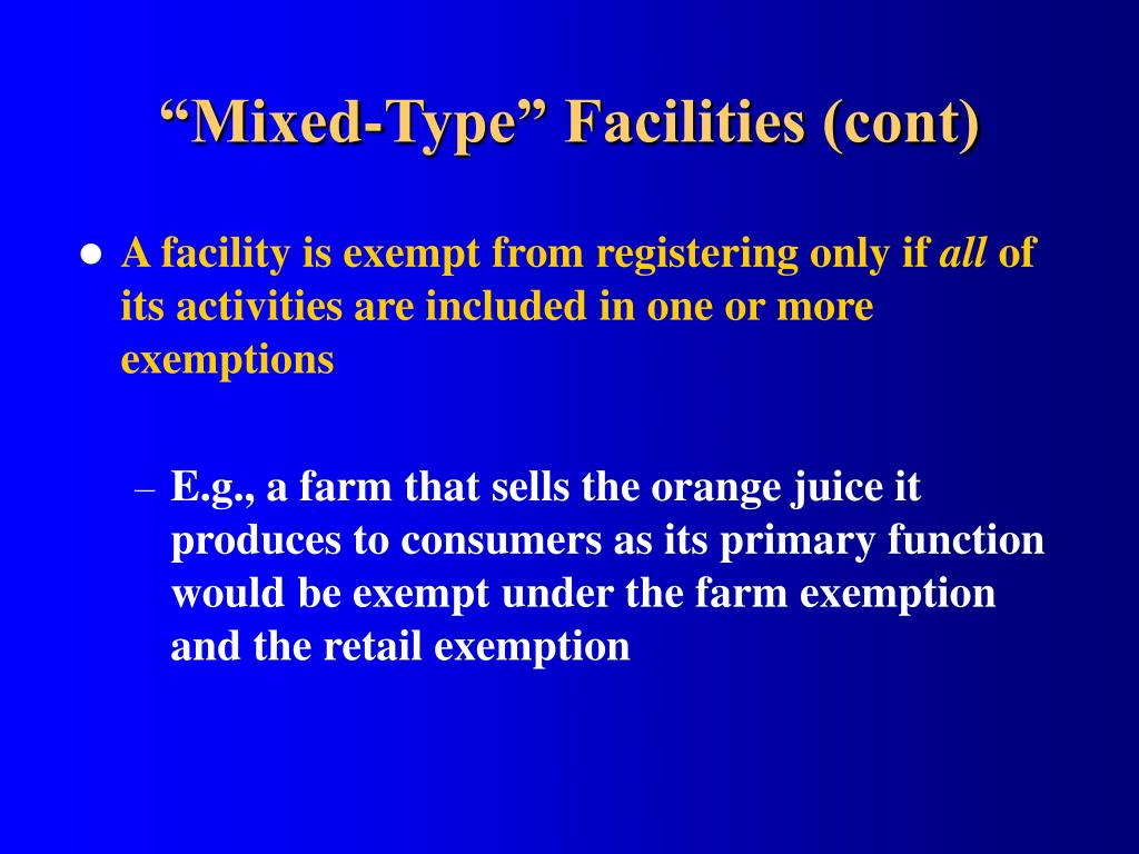 """""""Mixed-Type"""" Facilities (cont)"""