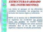 estructura o armado del instrumento 2