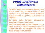 formulaci n de variables 2
