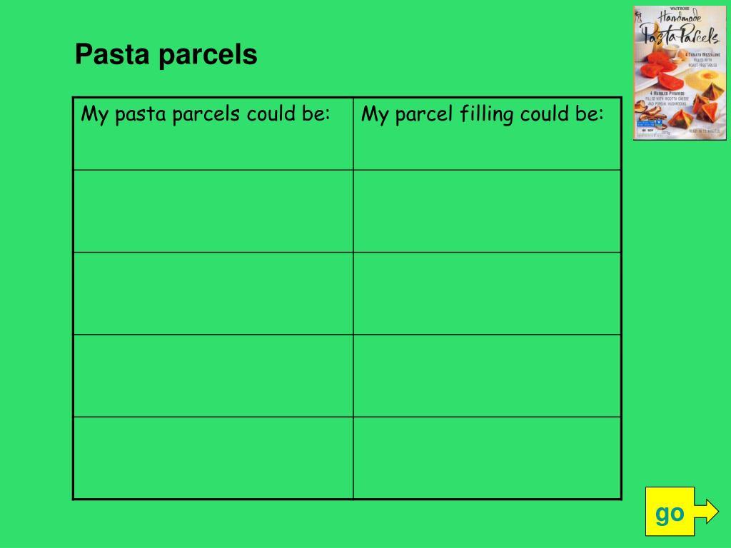 Pasta parcels