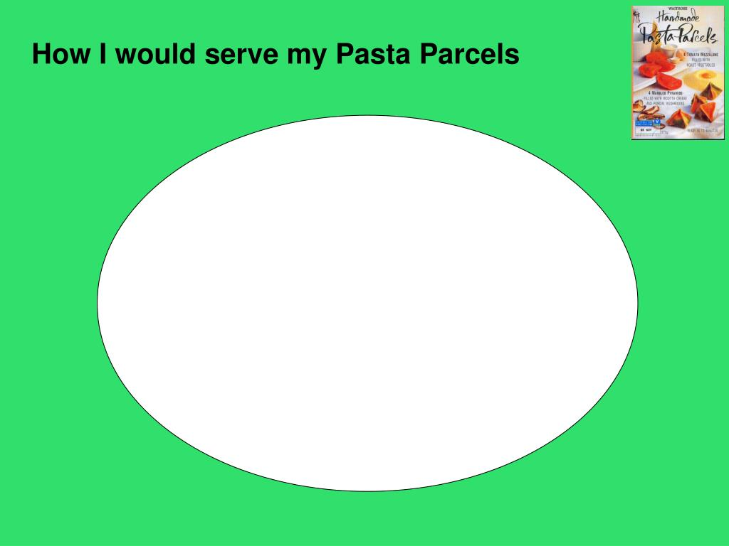 How I would serve my Pasta Parcels