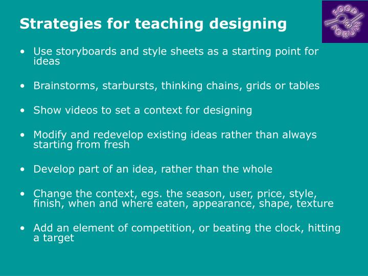 Strategies for teaching designing3