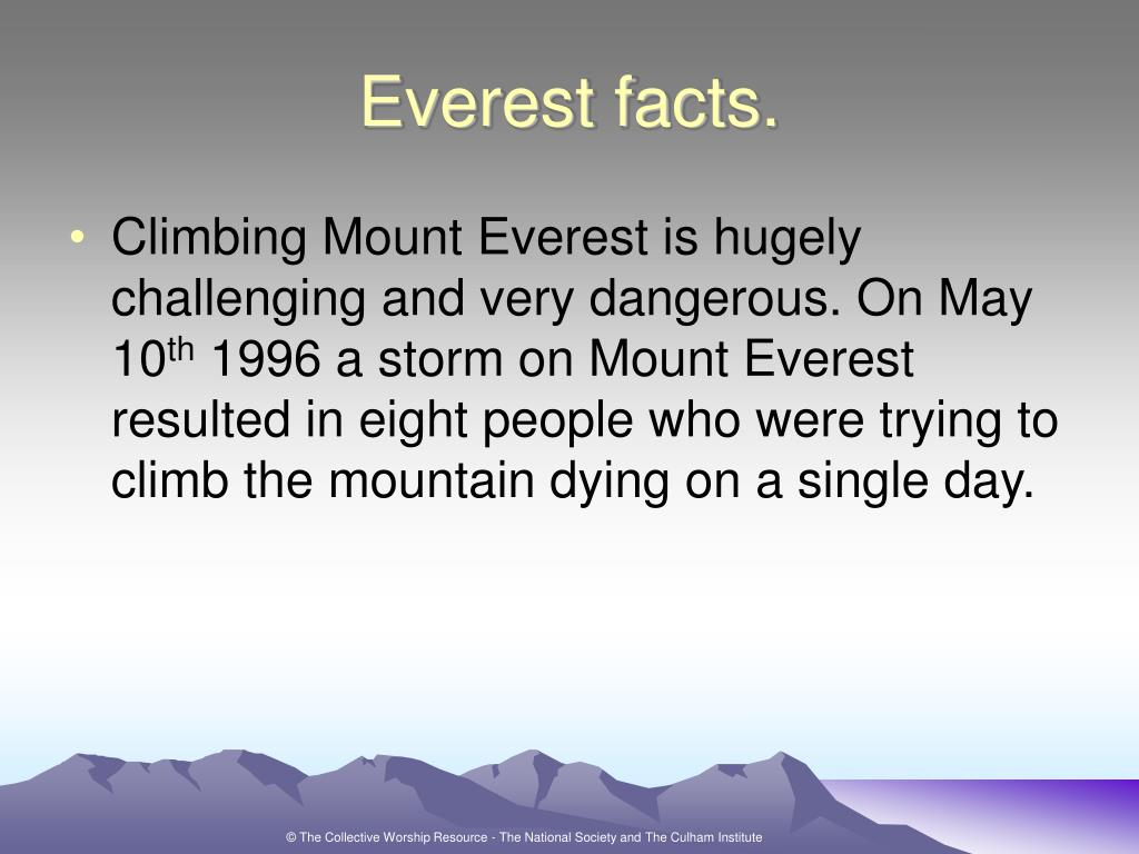 Everest facts.