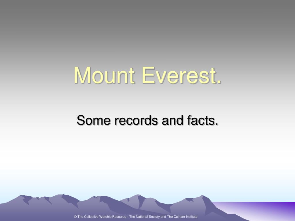 mount everest l.