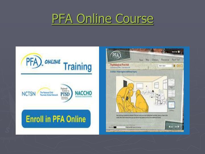 PFA Online Course