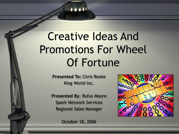 creative ideas and promotions for wheel of fortune n.