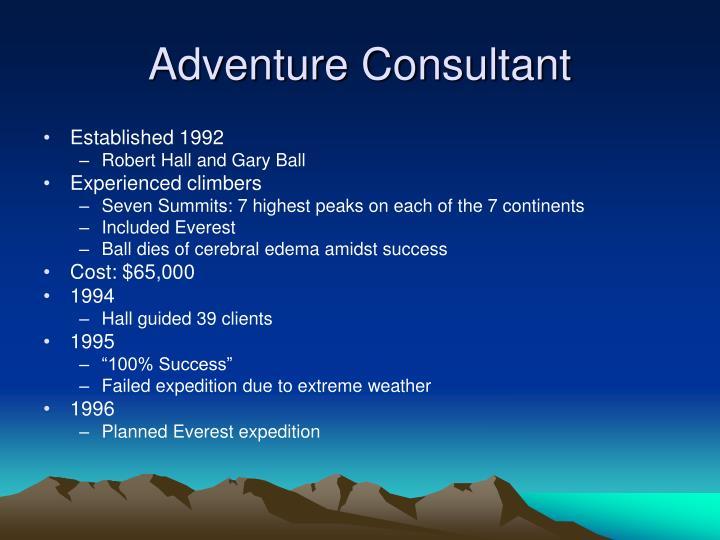 Adventure consultant