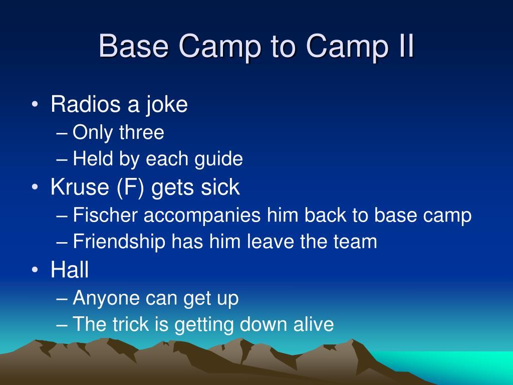 Base Camp to Camp II