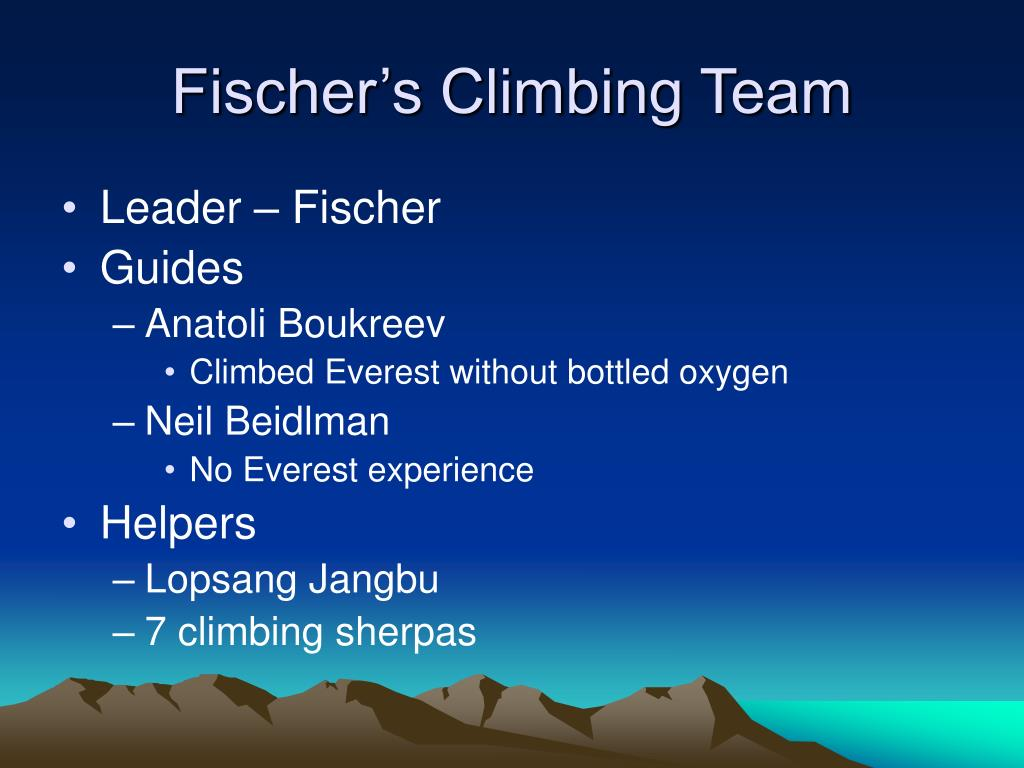 Fischer's Climbing Team