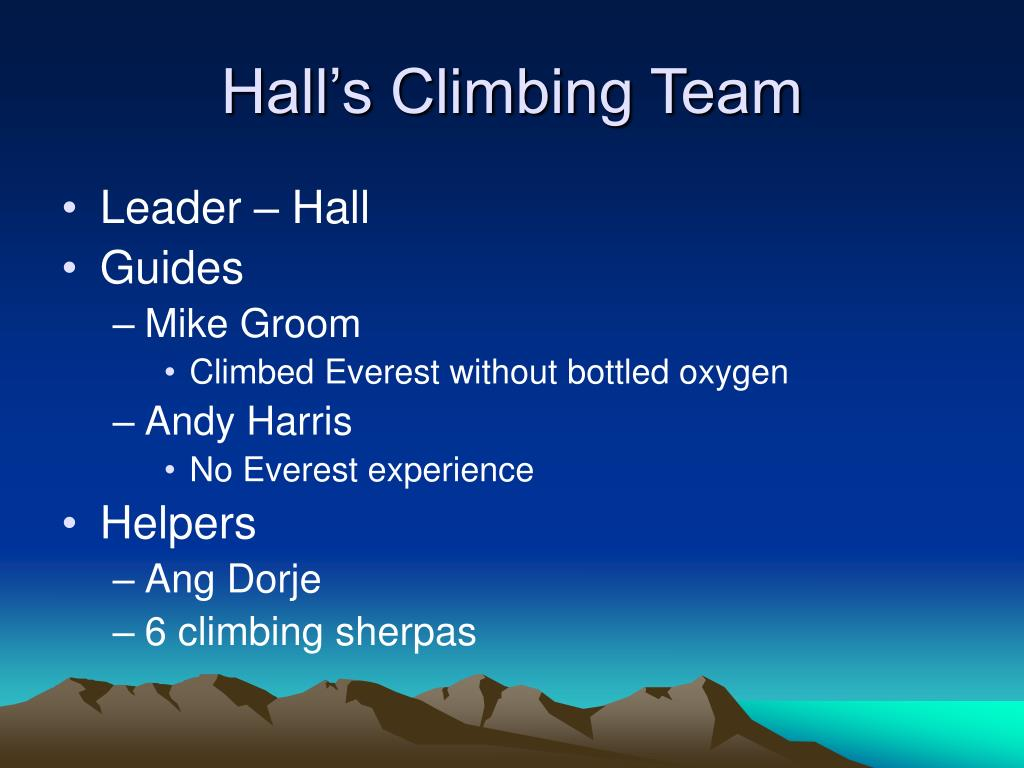 Hall's Climbing Team