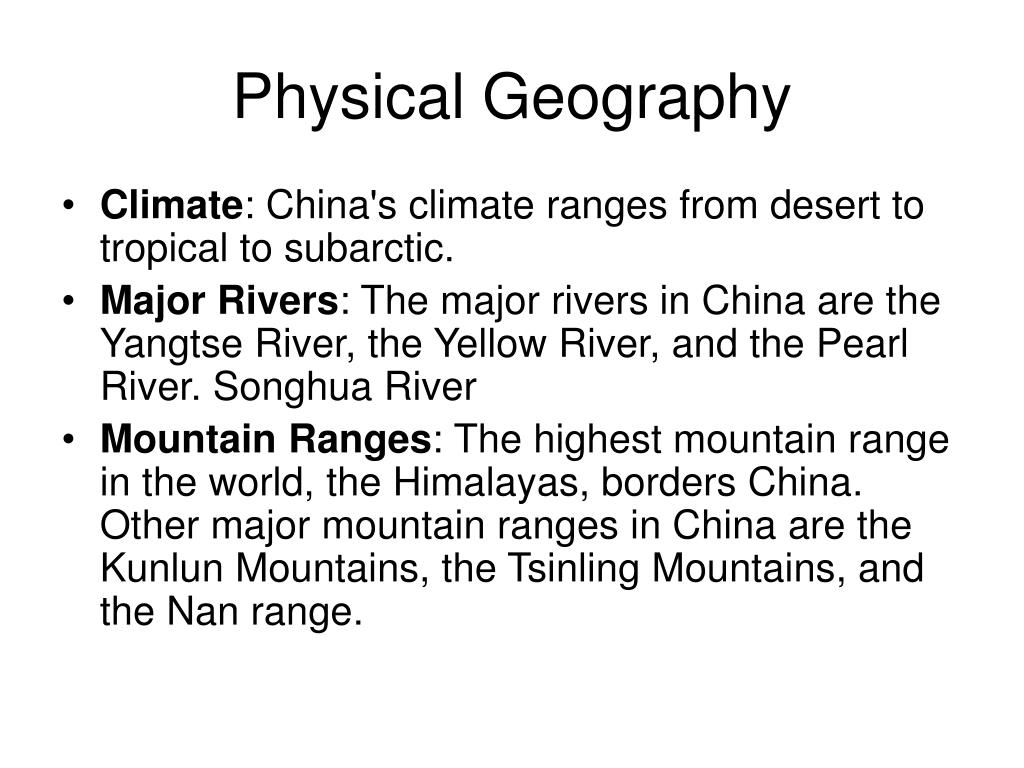 Physical Geography