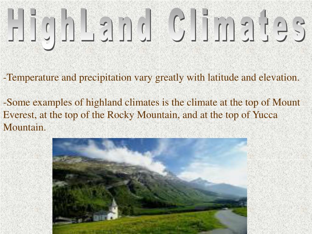 HighLand Climates