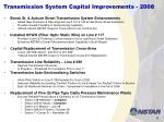 transmission system capital improvements 2008