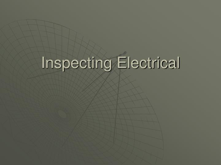 inspecting electrical n.